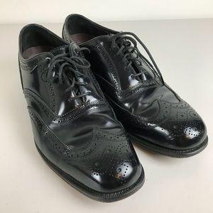 Florsheim Mens Black Leather Lace Up Oxford Sz 11B